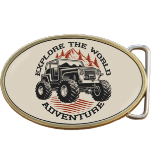 Four 4x4 Wheel Drive Off Road Adventure  Belt Buckle. Code A0086